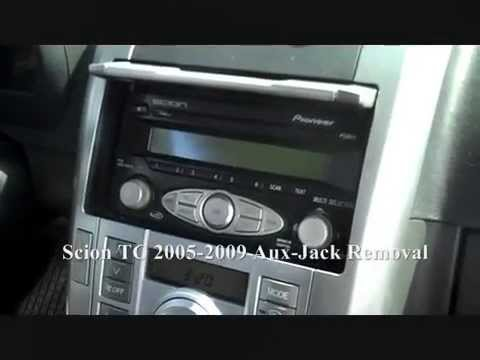 how to scion tc aux jack broken removal 2005 2009 youtube. Black Bedroom Furniture Sets. Home Design Ideas