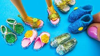 6 DIY Barbie Shoes, Sandals and Boots / Como hacer zapatos para Barbie