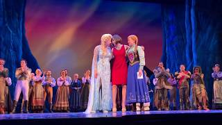 """Frozen on Broadway 1 year anniversary with Susan Egan """"Beauty and the Beast"""""""