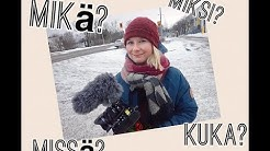Kysymykset suomeksi - Asking questions in Finnish