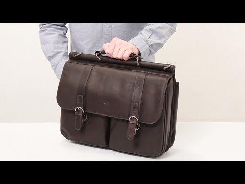 Warren Leather Briefcase - D535