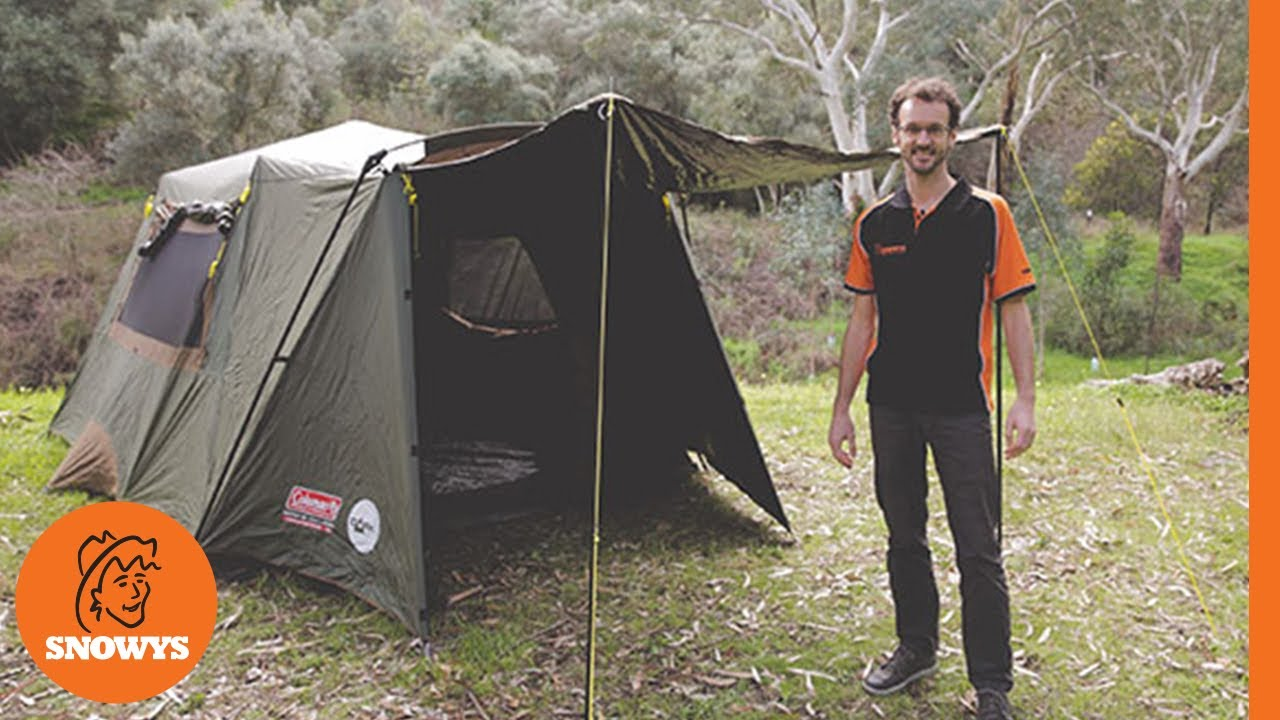 b62a6221dff Coleman Instant Up Gold 6PV Dark Room Tent - YouTube