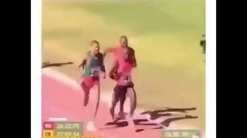And look at THIS! The FUCKING CAMERA MAN wins the race!