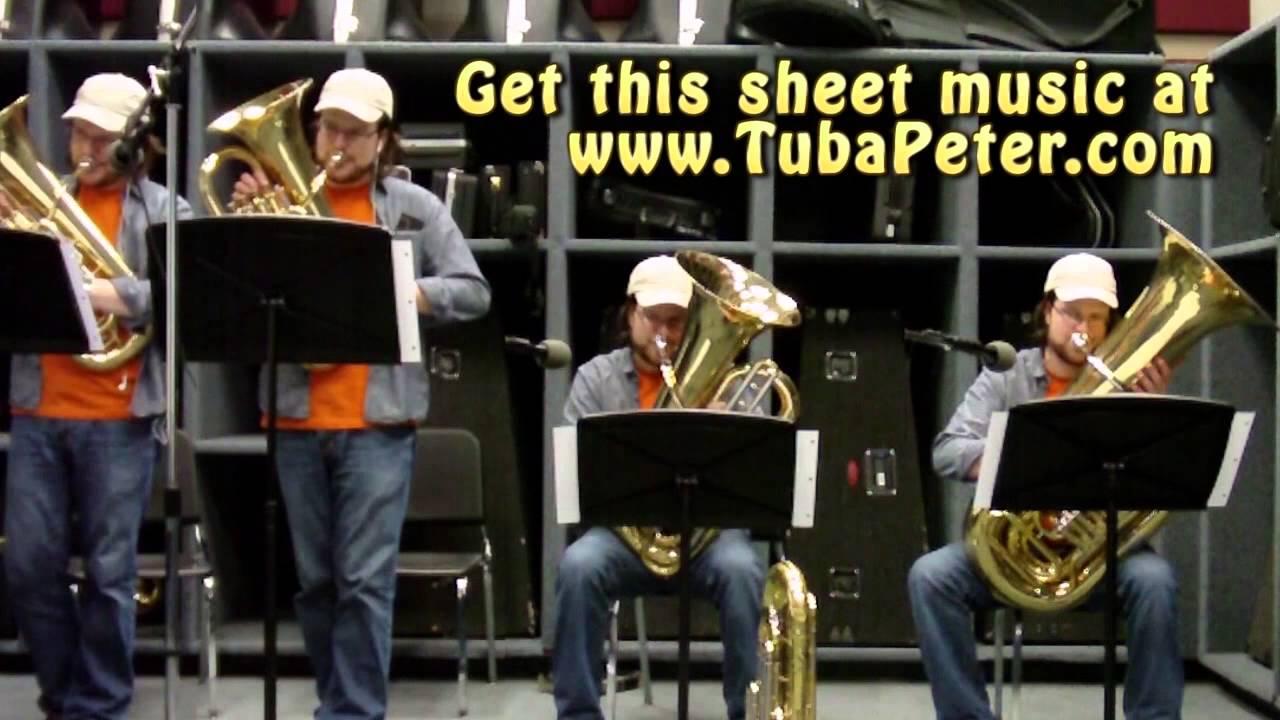 Monty Python Knights Of The Round Table Tuba Quartet + Sheet Music
