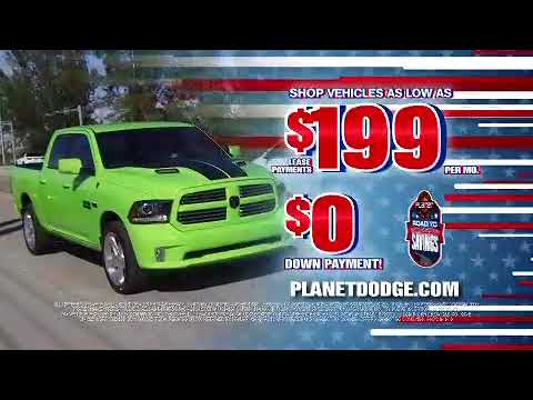Road To Memorial Day Savings At Planet Dodge Chrysler Jeep Ram