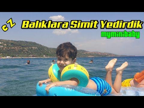 Myminibaby DENİZ KEYFİ | Su Altında Balıklara Simit Yedirdik | Eğlenceli çocuk Videosu EN İYİ KOLLUK