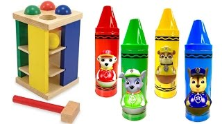 Compilation Video for Kids Ball Pounding Toys Paw Patrol Crayons