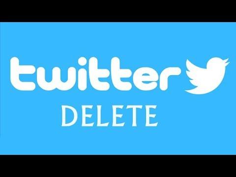 Как удалить страницу в твиттере навсегда через компьютер