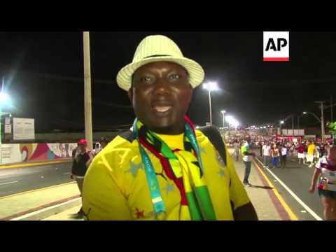 Fans react after Germany draws 2-2 with Ghana at World Cup