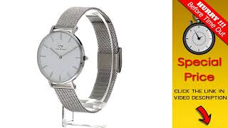 BIG DEAL $ Daniel Wellington Gift Set, Classic Petite Sterling 32mm Watch with Silver Classic Cuff