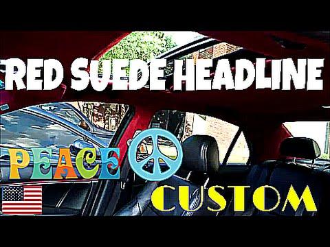 Red Suede Headline Interior Material Custom Youtube