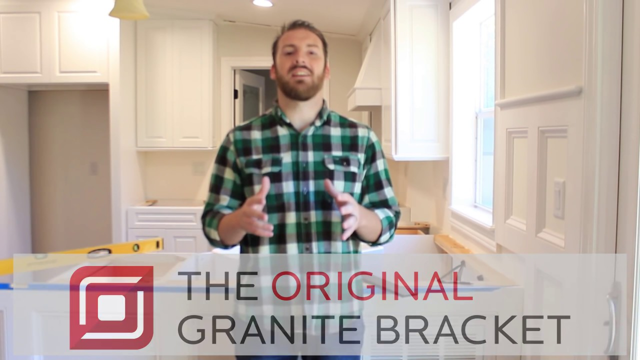 how to install hidden countertop supports for your kitchen countertop on your knee wall the original granite bracket