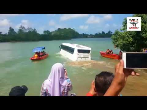 Bas Dua Alam Terengganu Mula Diuji di Sungai Terengganu - Bas Amfibia - Amphicoach