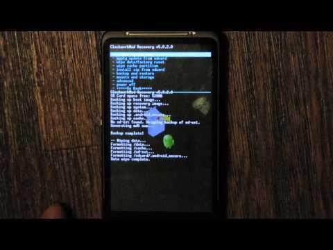 перепрошивка htc desire hd (android) и backup данных