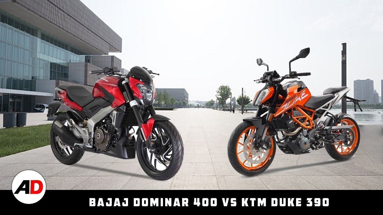 racing bike: bajaj dominar 400(kratos) vs ktm duke 390|autodrive