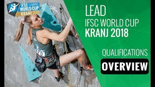 IFSC Climbing World Cup - Kranj 2018 - Lead - Qualifications Overview