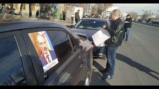Անհնազանդության ավտոերթ Երևանում.