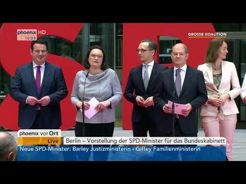 Vorstellung der SPD-Minister für das Bundeskabinett vom 09.03.2018
