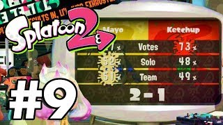Splatoon 2 Gameplay Part 9 (Nintendo Switch) | Splatfest Ketchup Vs Mayo Results!