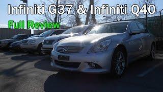 2014 Infiniti G37 & 2015 Infiniti Q40: Full Review