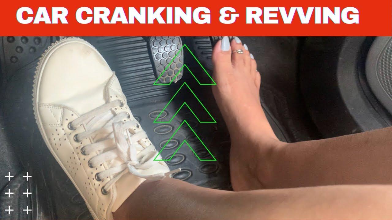 Cranking Car Barefoot