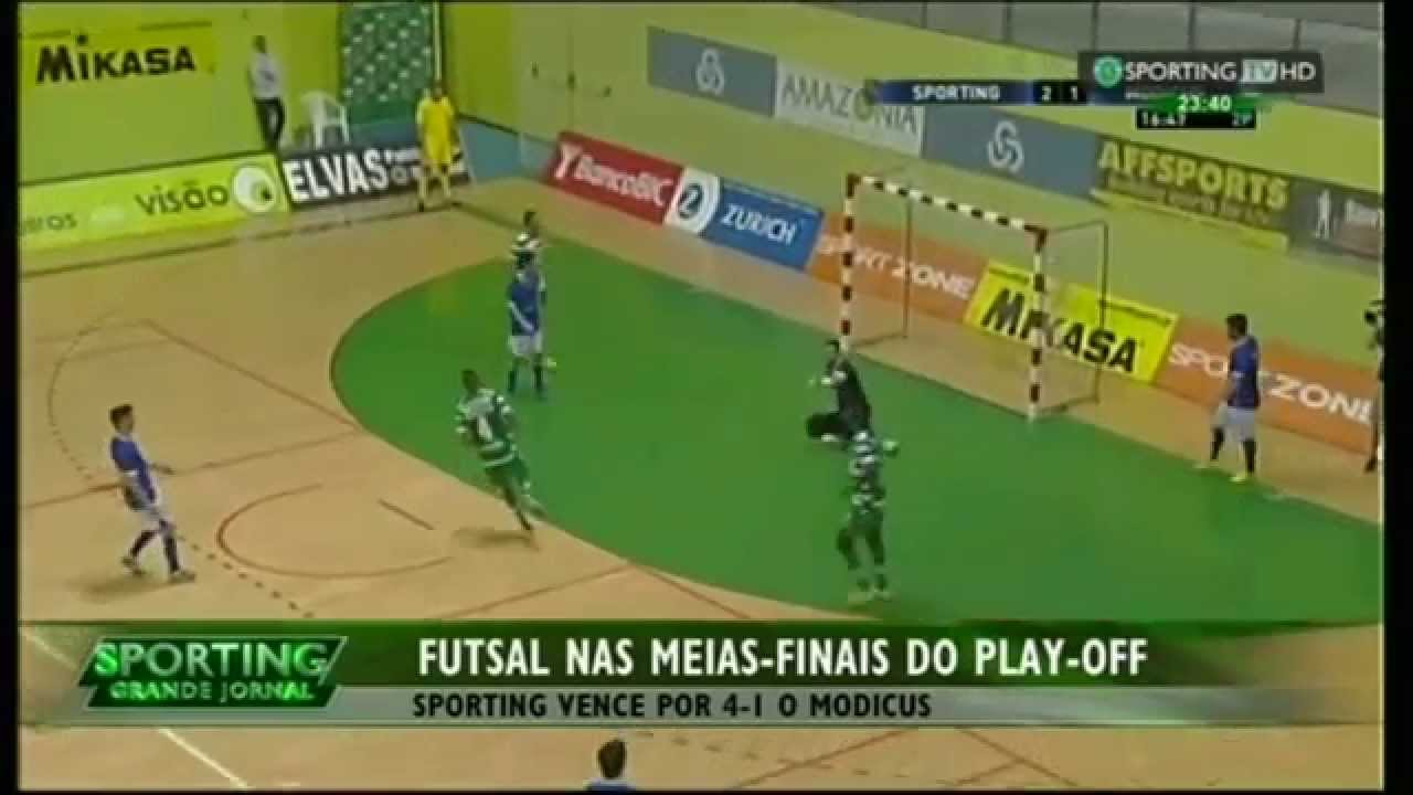 Futsal :: Play-off 1/4 Final 2º Jogo :: Sporting - 4 x Modicus - 1 de 2014/2015