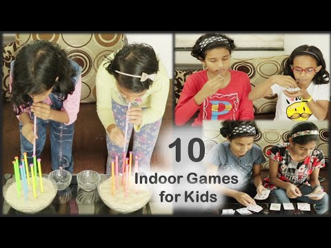 10 Indoor Games for kids | fun games for kids | 10 lockdown games for friends and Family (2020)