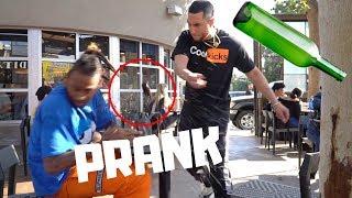 Breakaway Bottles Prank!!!!! (GONE WRONG!!!)
