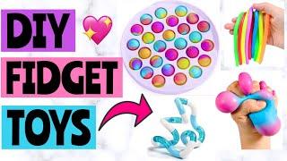 DIY FIDGET TOYS BĄCK TO SCHOOL! How to make FIDGET TOYS! *EASY* | Pop It, Monkey Noodles, Tangle