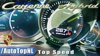 PORSCHE CAYENNE E Hybrid 462HP ACCELERATION & TOP SPEED 0-267km/h LAUNCH CONTROL by AutoTopNL