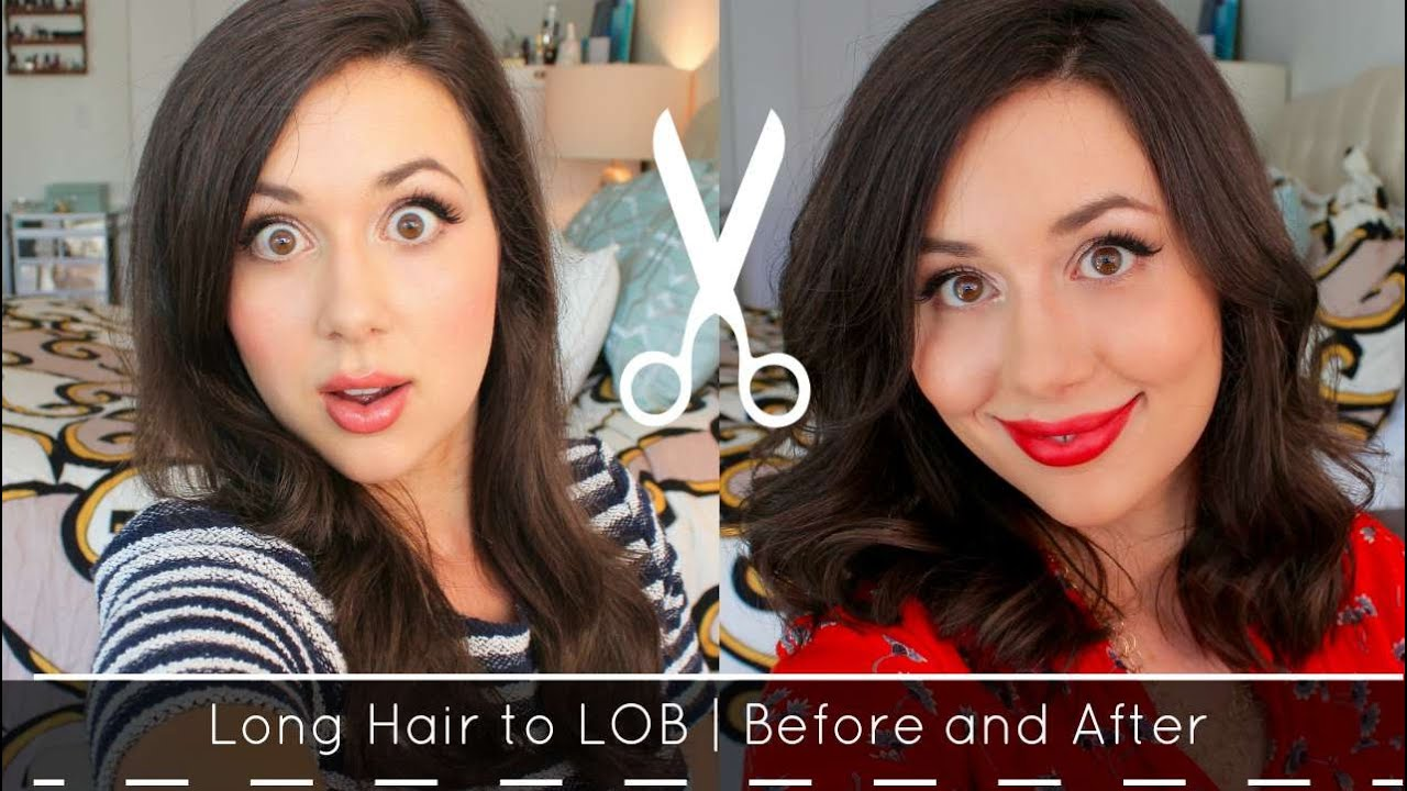 lob haircut before and after lob haircut long to short hair before and after youtube