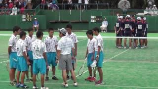 25日 ソフトテニス男子 団体 コート4  松江工×上宮 3回戦