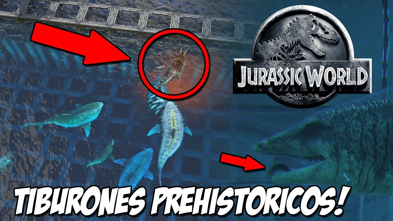 Piscina tiburones prehistoricos recinto megalodon helicoprion jurassic world ark park youtube - Vetrocamera 4 12 4 ...