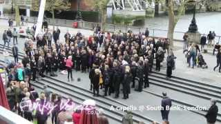 funky voices performing a capella at southbank london april 2014