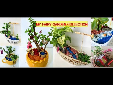 My Beautiful Fairy Garden Collection(All miniatures and accessories made by me)-BACKYARD GARDENING