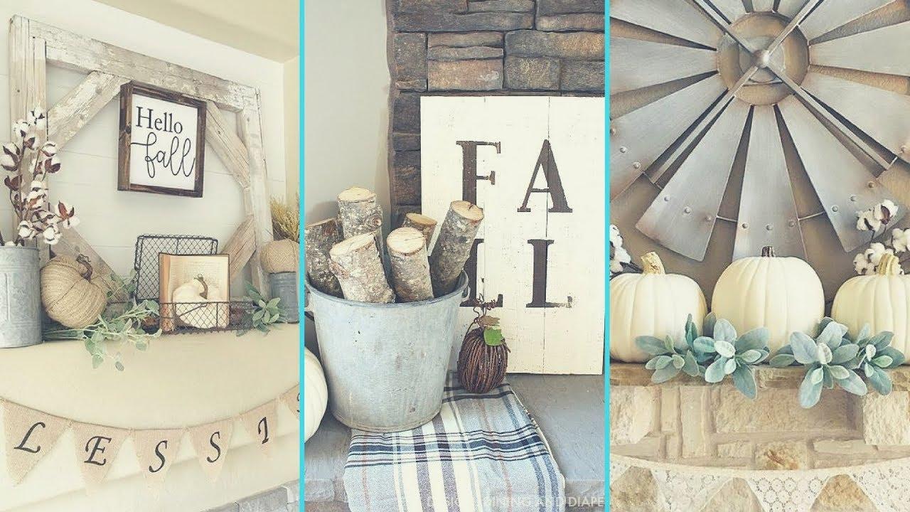 DIY Shabby chic style Fall Mantle decor Ideas