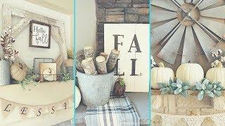❤ Diy Shabby Chic Style Fall Mantle Decor Ideas ❤ | Home Decor & Interior Design| Flamingo Mango|