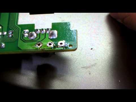 マウスのスイッチ交換はんだ吸い取り線使用 オムロン D2F01F