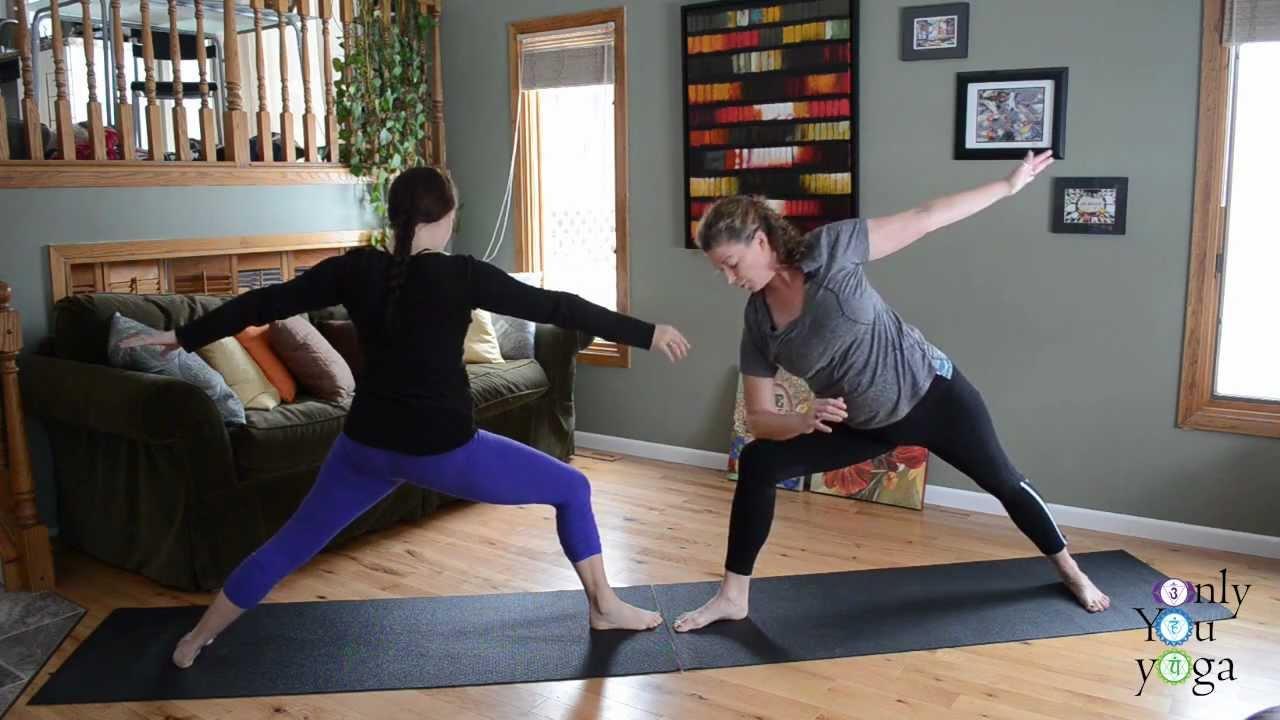 Valentine S Day Partner Yoga Youtube