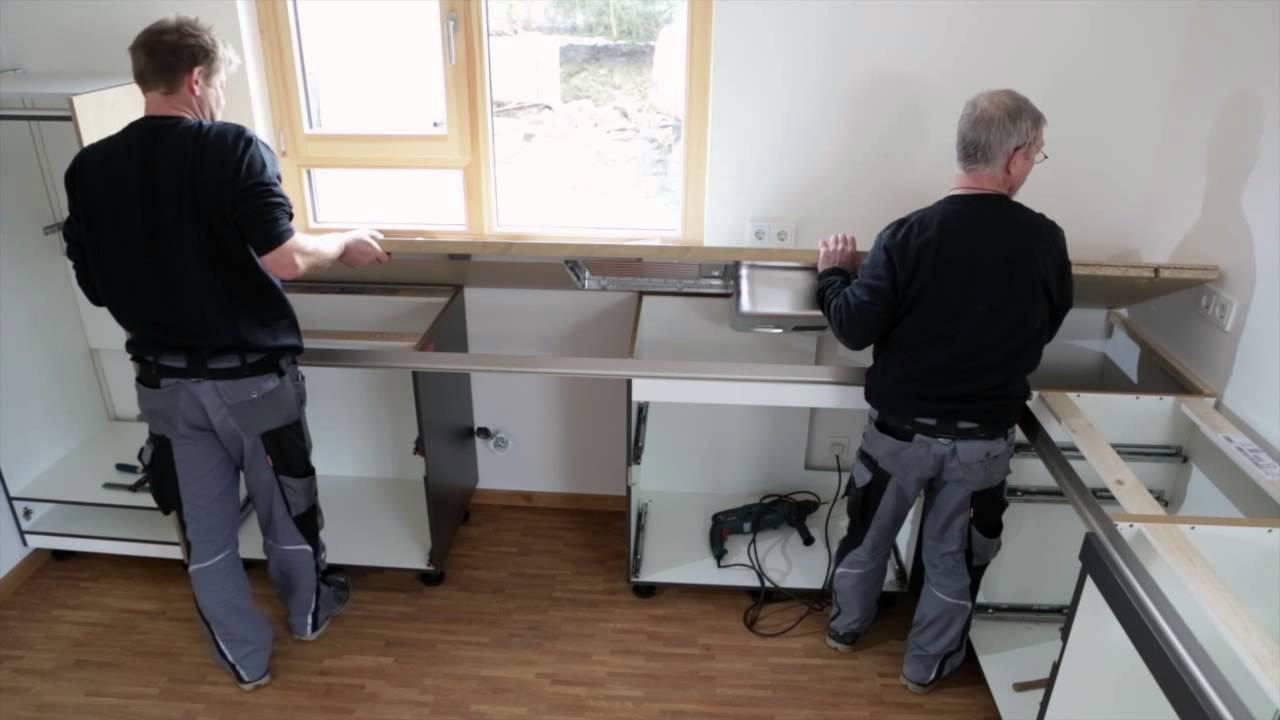 küchenmontage der spitzhüttl home company bei würzburg - youtube - Küche Montage