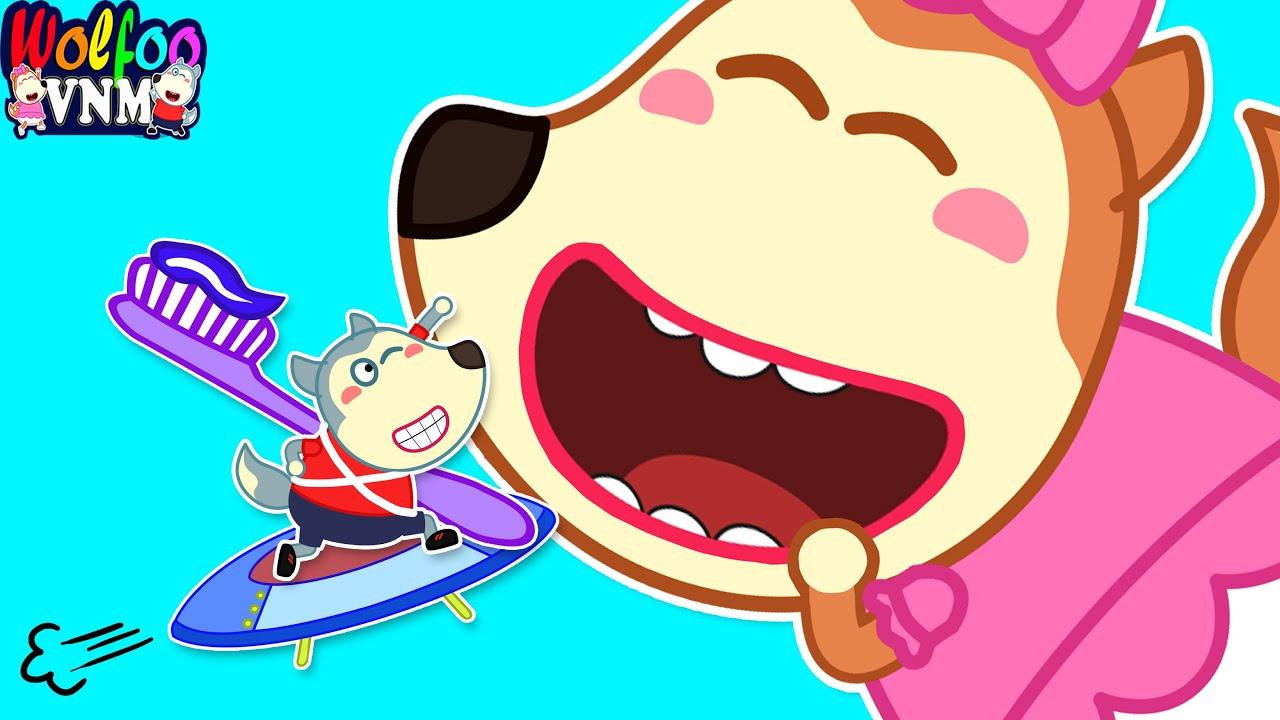 Download Đánh Răng Sạch Sẽ Không Lo Sâu Răng | Vi Khuẩn Răng Làm Mình Đau | Phim Hoạt Hình Wolfoo Tiếng Việt