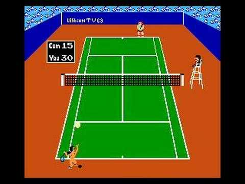 Lesbian Tennis Video