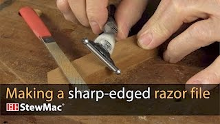 Making a sharp-edged razor file to replace nasty binding