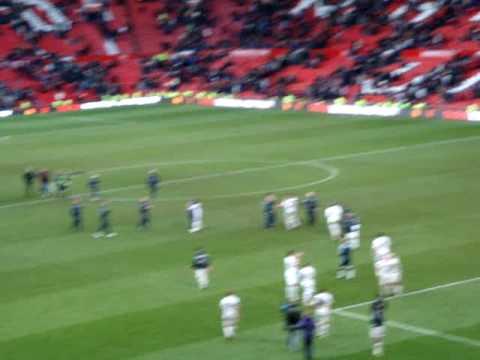 Man utd 0-1 Leeds post celebrations