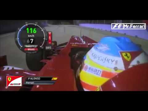 Webber Penalty-Fernando Alonso stops to give Webber a lift-Singapore GP 2013