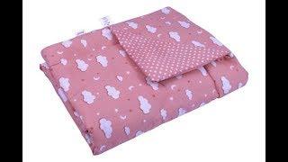 Одеяло детское в кроватку Руно Хлопок Розовая Тучка