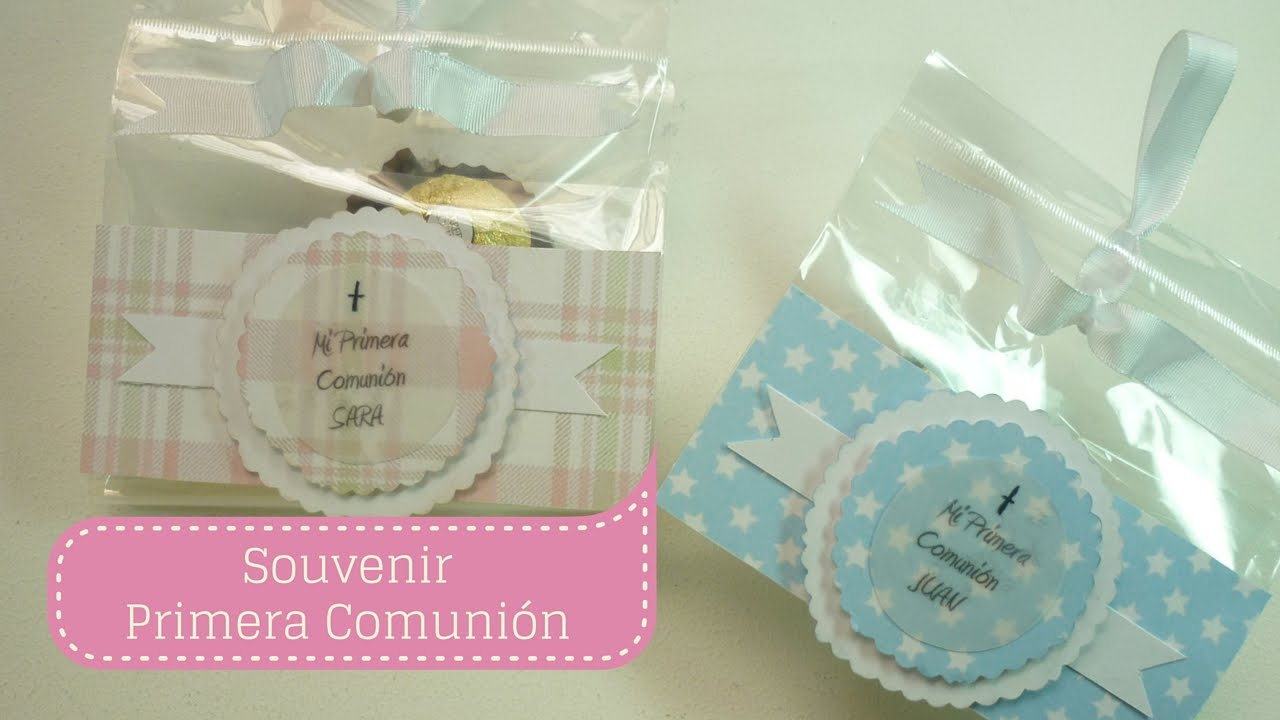 Manualidades souvenir o recuerdo de primera comuni n - Como preparar una comunion en casa ...