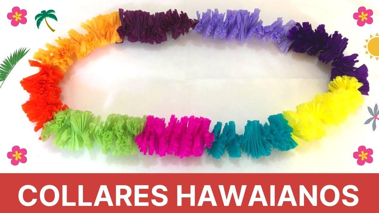 Como Hacer Collares Hawaianos Youtube
