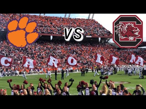 University of South Carolina VS Clemson Football Entrance ...