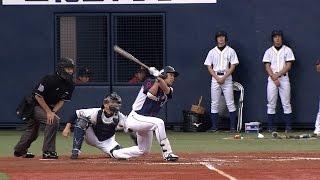 2回、埼玉西武の秋山が2点タイムリー3ベースを放ち、パ・リーグ新の211...